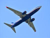 Sheremetyevo, Russia - May 09. 2018. Boeing 737 of airline Aeroflot