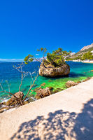 Idyllic islet on Punta Rata beach in Brela