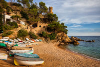 Beach and Sea Coast in Lloret de Mar