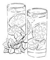 Painting Lemonade. Sketch