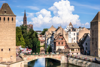 Strasbourg scenery water towers