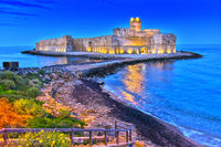 The castle in the Isola di Capo Rizzuto in the Province of Crotone