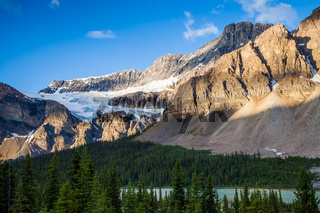 Bow Lake and the Crowfoot Clacier in Banff National Park, Alberta
