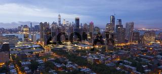 City Lights Illuminate the Scene Before Dawn Jersey City NJ