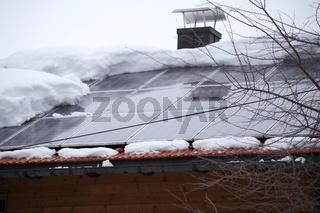 Schneelast auf Solardach
