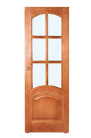 beautiful wooden door on white background