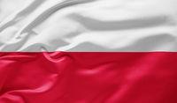 Waving national flag of Poland