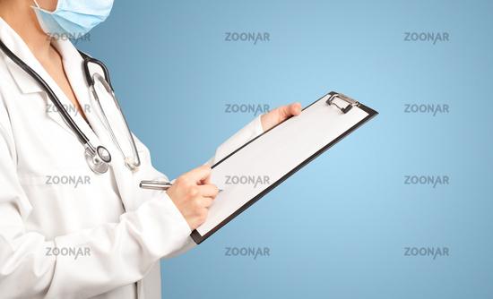 Female doctor with notepad