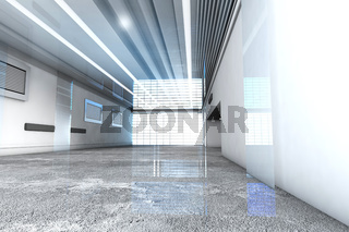 3D rendered Illustration of a industrial interior