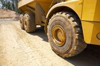 Gold mine quarry dump trucks tires