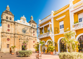 A typical view of Cartagena Colombia.