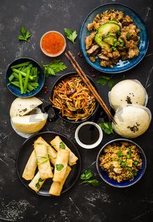Asian assorted food set