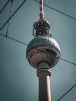 Berlin Television Tower, low angle