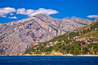 Makarska riviera turquoise coastline view