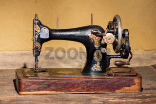 Dutch agricultural museum with old Singer sewing machine