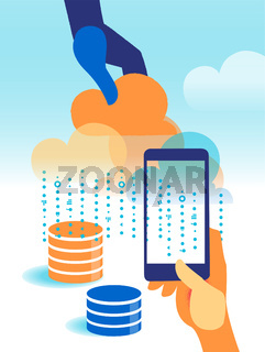 Cloud services and infrastructure wich manage big data and informations