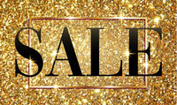 Sale banner poster with golden glitter shining background, shopping discount advertising, flyer, marketing and selling, vector illustration.