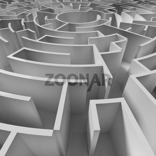 a circle maze from above