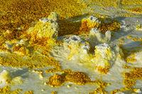 Fumarolen in schwefelhaltigen Ablagerungen,Geothermalgebiet Dallol, Danakilsenke, Äthiopien