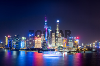 charming shanghai at night