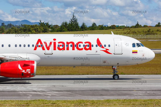 Avianca Airbus A321 airplane Medellin airport