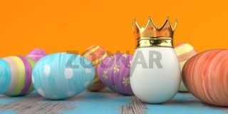 Easter Egg Golden King Crown