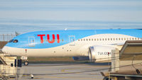 TUI fly taxiing after landing