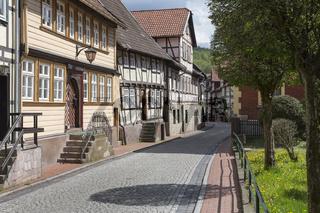 Das Städtchen Stolberg im Harz, Deutschland
