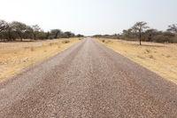 Ashpalt road in Botswana
