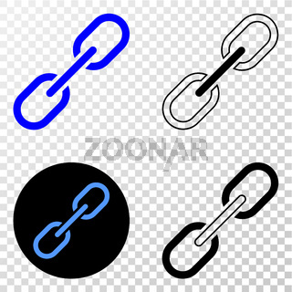 Chain Vector EPS Icon with Contour Version