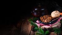 Polish bigos with sausage and dried plum