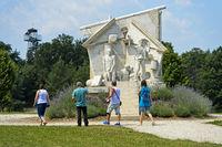 Der Durchbruch-Statue der Europäischen Freiheit,Paneuropäisches Picknick,Fertörakos, Ungarn