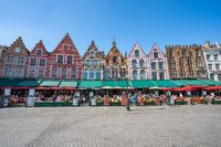 The market square of Bruges in Belgium