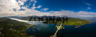 Panorama Beautiful Nature Norway.