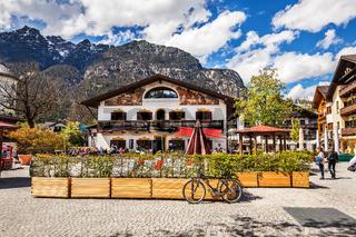 Beautiful houses in Oberammergau in Germany