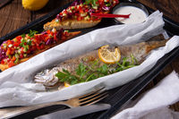 the perfectly baked oven trout with lemon and herbs
