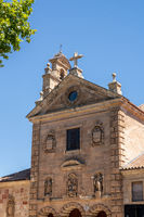 Stork nest on bell tower of Church of San Pablo in Salamanca