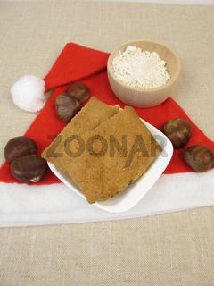 Lebkuchen mit Kastanienmehl