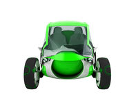 Modern electric front electric green 3d render on white background no shadow