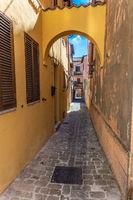 narrow street medieval