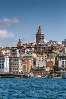 View of  Istanbul Beyoglu area, Turkey