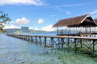Bootssteeg in YENWAUPNOR Village Raja Ampat Indonesien.jpg