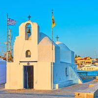 Greek orthodox church of Agios Nikolaos in the port of Aegina