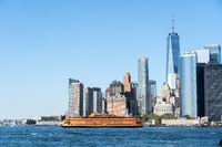 Staten Island Ferry and Lower Manhattan Skyline