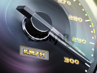 3d speedometer, round gauge with metal frame