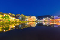 anhui ancient villages at night