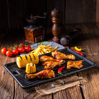 Rustic Grilled chicken wings,legs,and spicy corn