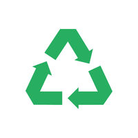 Recycle isolated icon. Protection nature resoures. Recycling symbol ecology. Green eco sign.