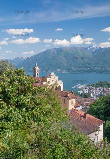 Madonna del Sasso,Locarno,Kanton Tessin,Lago Maggiore,Schweiz