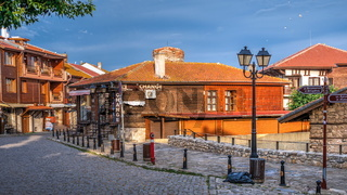 Streets of the old town of Nessebar, Bulgaria